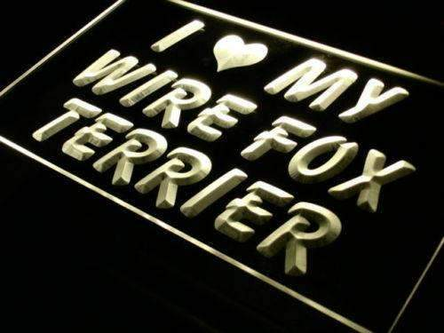 I Love My Wire Fox Terrier LED Neon Light Sign - Way Up Gifts