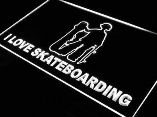 I Love Skateboarding LED Neon Light Sign - Way Up Gifts