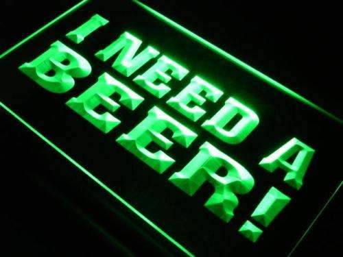 I Need a Beer LED Neon Light Sign - Way Up Gifts