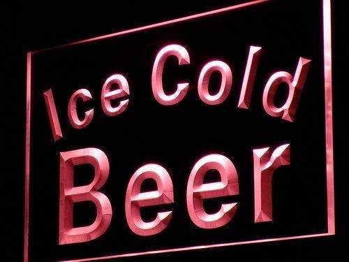 Ice Cold Beer LED Neon Light Sign - Way Up Gifts