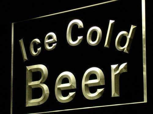 Ice Cold Beer LED Neon Light Sign  Business > LED Signs > Beer & Bar Neon Signs - Way Up Gifts
