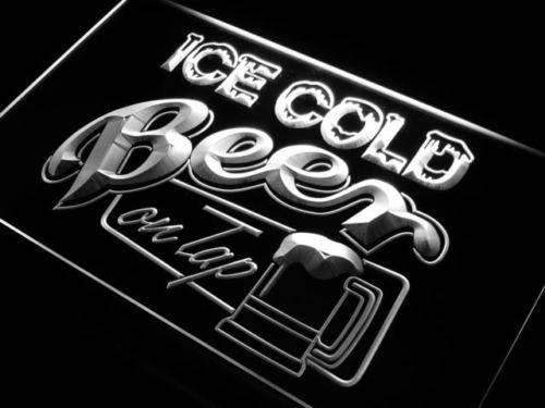Ice Cold Beer on Tap LED Neon Light Sign - Way Up Gifts