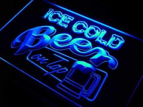 Ice Cold Beer on Tap LED Neon Light Sign  Business > LED Signs > Beer & Bar Neon Signs - Way Up Gifts