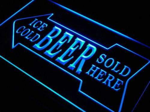 Ice Cold Beer Sold Here LED Neon Light Sign  Business > LED Signs > Beer & Bar Neon Signs - Way Up Gifts
