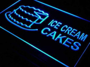 Ice Cream Cakes Neon Sign (LED)-Way Up Gifts