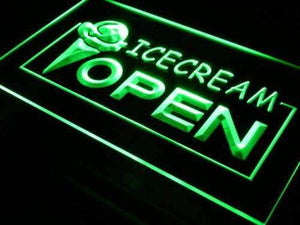 Ice Cream Open Neon Sign (LED)-Way Up Gifts