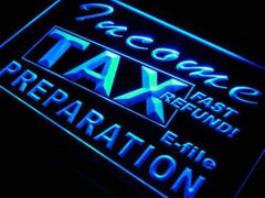Income Tax Preparation Services LED Neon Light Sign