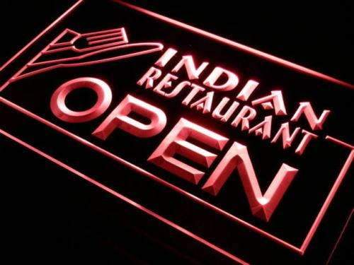 Indian Restaurant Open LED Neon Light Sign - Way Up Gifts
