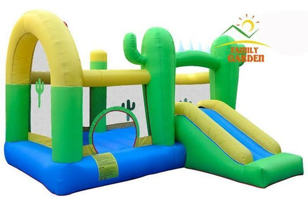 Inflatable Cactus Bouncy Castle | Bounce Jump House with Slide  Home > Outdoor > Bounce Houses - Way Up Gifts