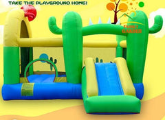 Inflatable Cactus Bouncy Castle | Bounce Jump House with Slide
