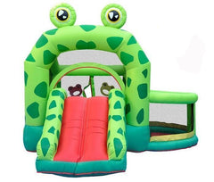 Inflatable Frog Bouncy Castle | Bounce House, Ball Pit & Slide Playground
