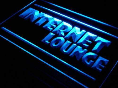 Internet Lounge LED Neon Light Sign - Way Up Gifts
