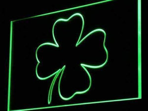 Irish Four Leaf Clover Neon Sign (LED)-Way Up Gifts