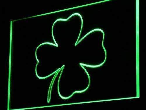 Irish Four Leaf Clover LED Neon Light Sign - Way Up Gifts