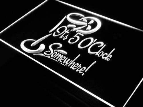 Its Five O Clock Somewhere LED Neon Light Sign - Way Up Gifts