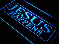Jesus Happens LED Neon Light Sign