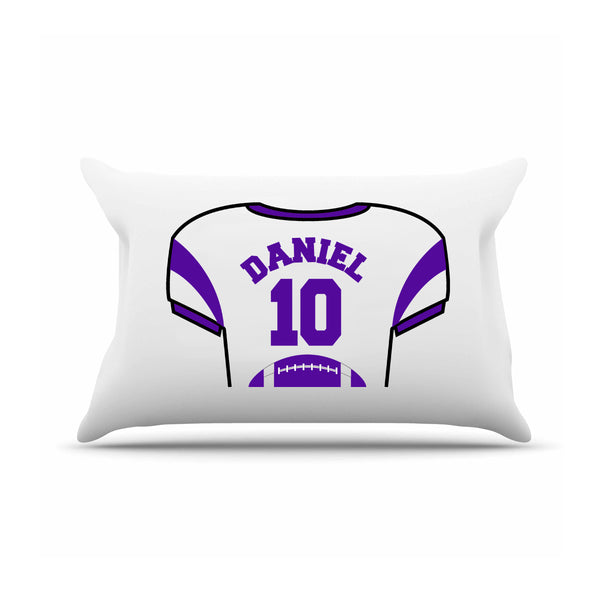 Personalized Boys Football Jersey Pillow Case  Personalized Gifts - Way Up Gifts