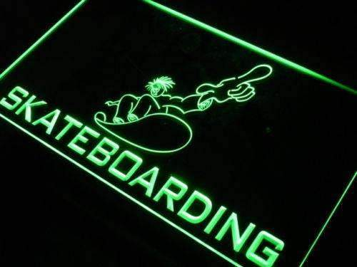 Kids Skateboarding LED Neon Light Sign - Way Up Gifts