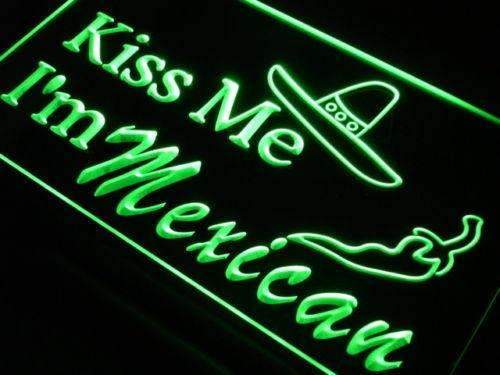 Kiss Me I'm Mexican LED Neon Light Sign - Way Up Gifts
