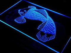 Koi Japanese Fish Tattoo Logo LED Neon Light Sign