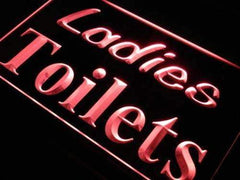 Ladies Toilets Restrooms LED Neon Light Sign