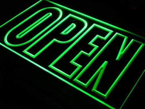 Large Letters Open LED Neon Light Sign - Way Up Gifts
