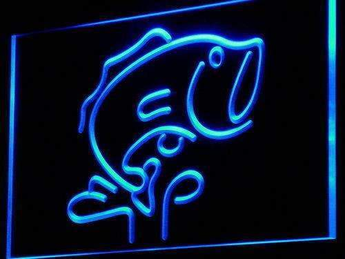 Large Mouth Bass Fish LED Neon Light Sign - Way Up Gifts
