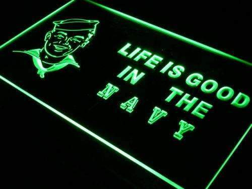 Life is Good Navy LED Neon Light Sign - Way Up Gifts