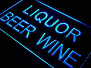 Liquor Beer Wine Neon Sign (LED)-Way Up Gifts