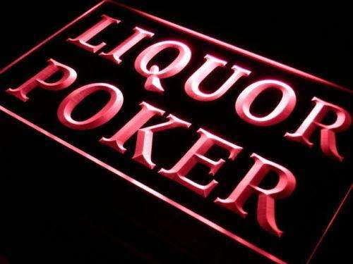 Liquor Poker LED Neon Light Sign - Way Up Gifts