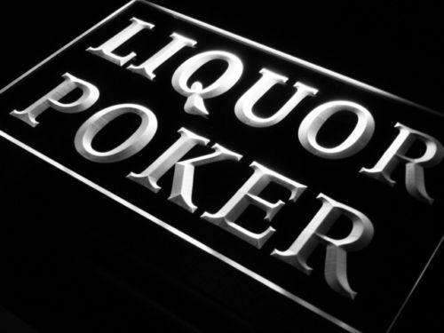 Liquor Poker LED Neon Light Sign  Business > LED Signs > Beer & Bar Neon Signs - Way Up Gifts