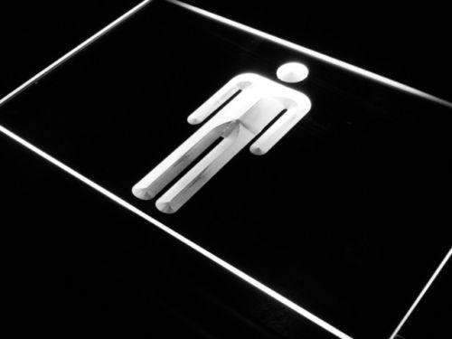 Male Mens Restroom LED Neon Light Sign - Way Up Gifts