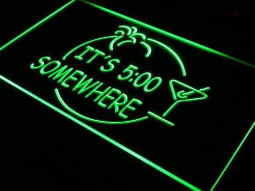 Margarita Its Five O Clock Somewhere LED Neon Light Sign - Way Up Gifts