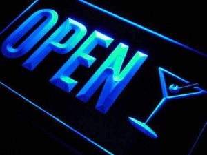 Martinis Bar Open Neon Sign (LED)-Way Up Gifts
