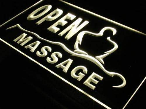 Massage Open LED Neon Light Sign - Way Up Gifts