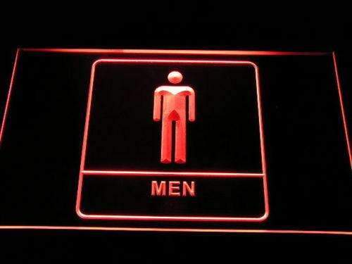 Men Washroom Restroom LED Neon Light Sign - Way Up Gifts