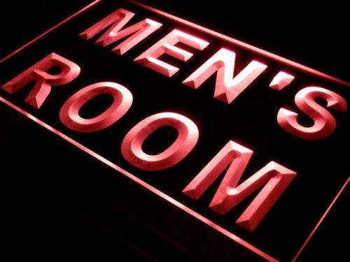 Mens Room Restrooms LED Neon Light Sign - Way Up Gifts