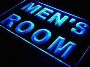 Mens Room Restrooms Neon Sign (LED)-Way Up Gifts