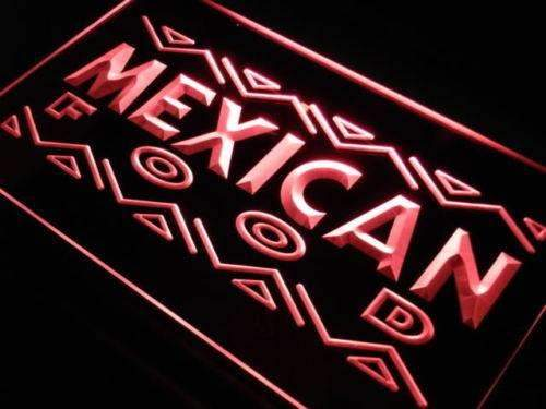 Mexican Food LED Neon Light Sign - Way Up Gifts