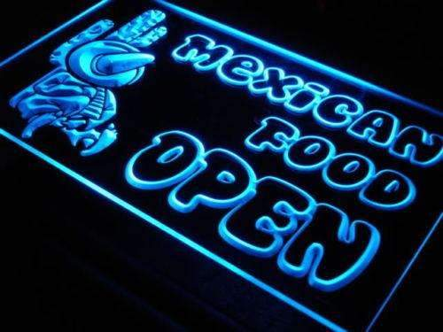 Mexican Food Tacos Open LED Neon Light Sign - Way Up Gifts