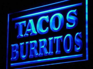 Mexican Tacos Burritos Neon Sign (LED)-Way Up Gifts