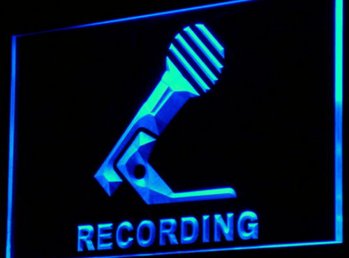 Microphone On Air Recording LED Neon Light Sign - Way Up Gifts