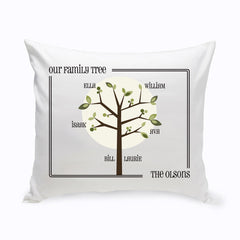 Personalized Family Tree Throw Pillows