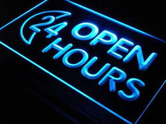 Moon Open 24 Hours LED Neon Light Sign