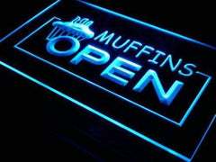 Muffins Open LED Neon Light Sign