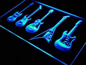Music Guitar Set Neon Sign (LED)-Way Up Gifts