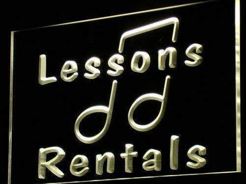 Music Instruments Lessons Rentals LED Neon Light Sign - Way Up Gifts