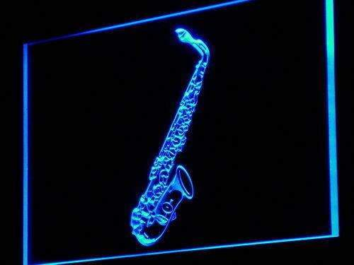 Music Store Lessons Saxophone LED Neon Light Sign - Way Up Gifts