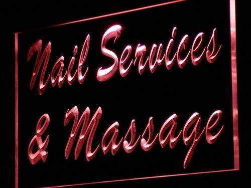 Nail Salon Massage LED Neon Light Sign - Way Up Gifts