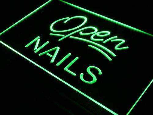 Nail Salon Open LED Neon Light Sign - Way Up Gifts